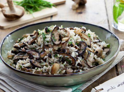אורז פטריות שי-טאקי ודברים טובים