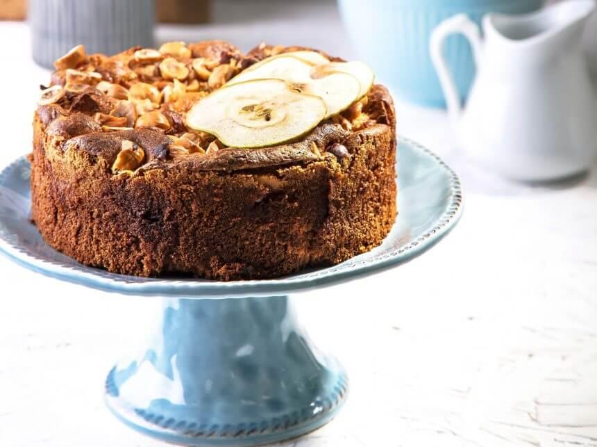 עוגת ג'ינג'ר, תפוחים ולמון גראס