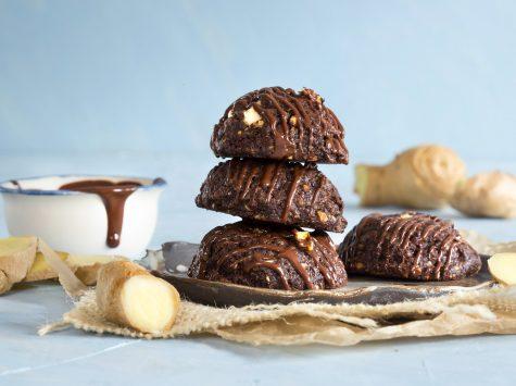 עוגיות שוקולד ג'ינג'ר קלות ומשחתות
