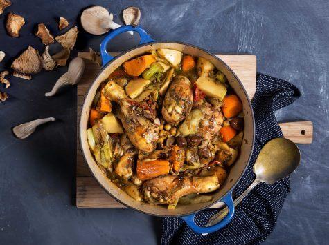 תבשיל, ירקות ופטריות